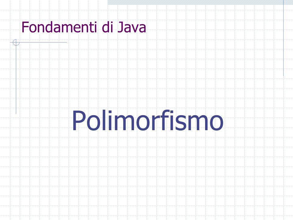 Fondamenti di Java Polimorfismo