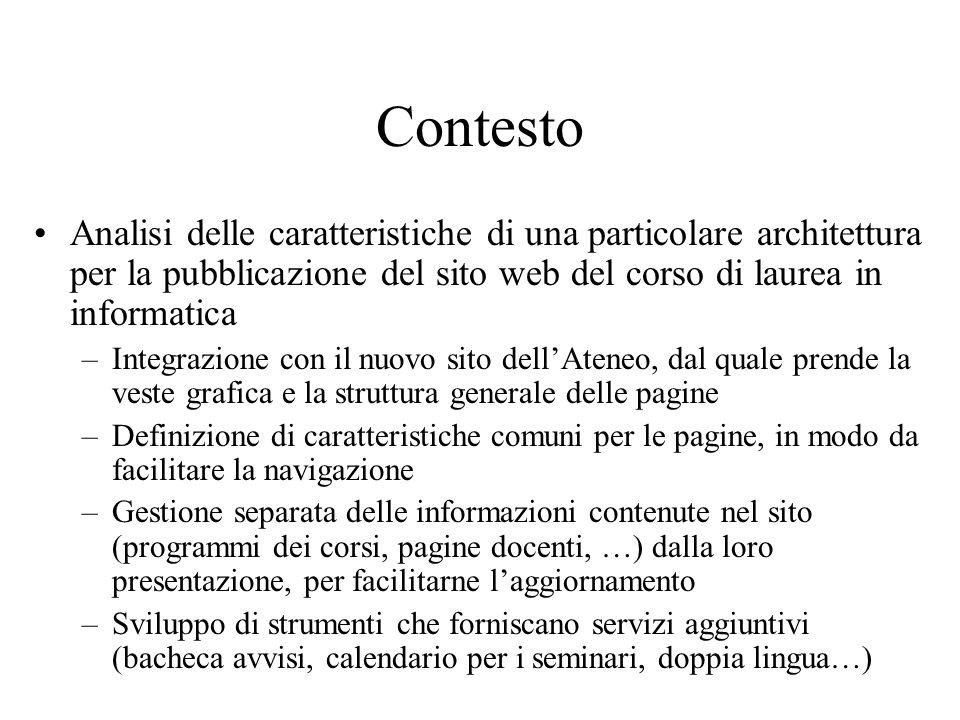 Esempio: avvisi di seminario XSL HTML PDF