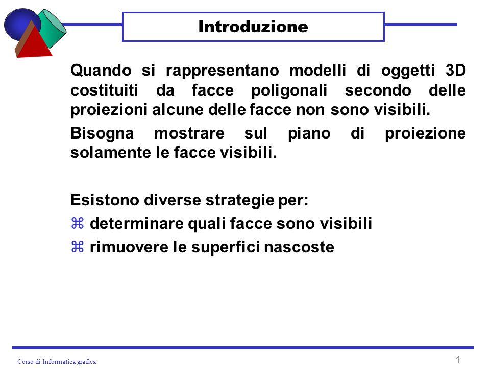 Corso di Informatica grafica 12 Ripasso algoritmi ORDINAMENTO PER SELEZIONE void ordinamentoSelezione(int vett[], int dim) { int temp, posmin; for(int i = 0; i < dim-1; i++) { posmin = i; for(int j = i + 1; j < dim; j++) if (vett[j] < vett[posmin]) posmin = j; temp = vett[i]; vett[i] = vett[posmin]; vett[posmin] = temp; }