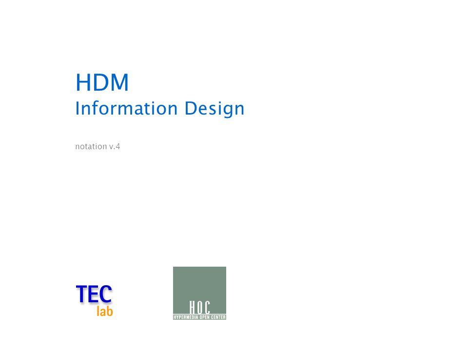 HDM Information Design notation v.4