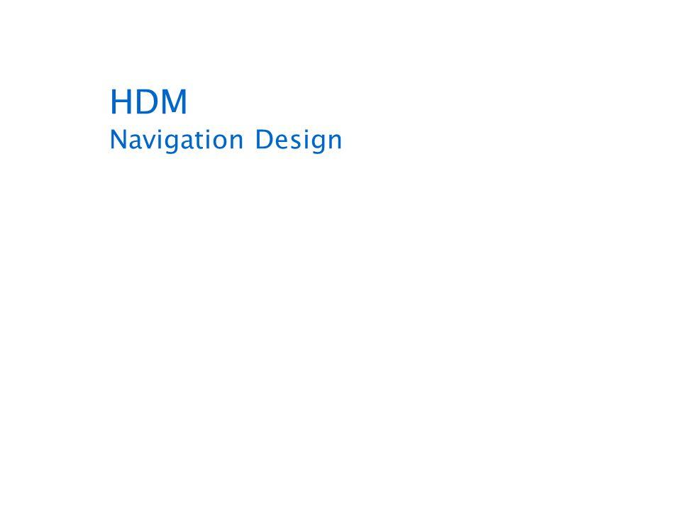 HDM Navigation Design
