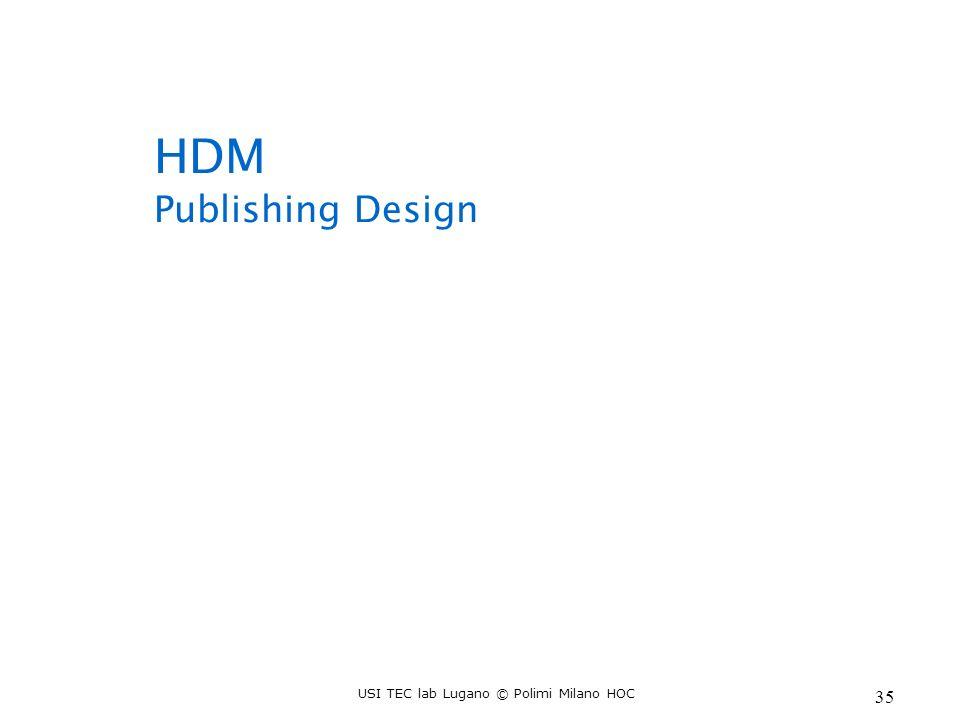USI TEC lab Lugano © Polimi Milano HOC 35 HDM Publishing Design