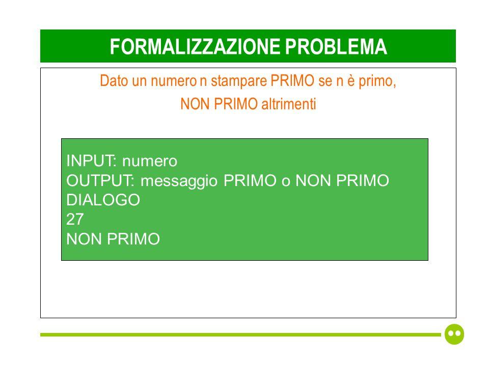 PROGETTARE Acquisisco numero Controllo se è primo If (è primo) printf(PRIMO); else printf(NON PRIMO);
