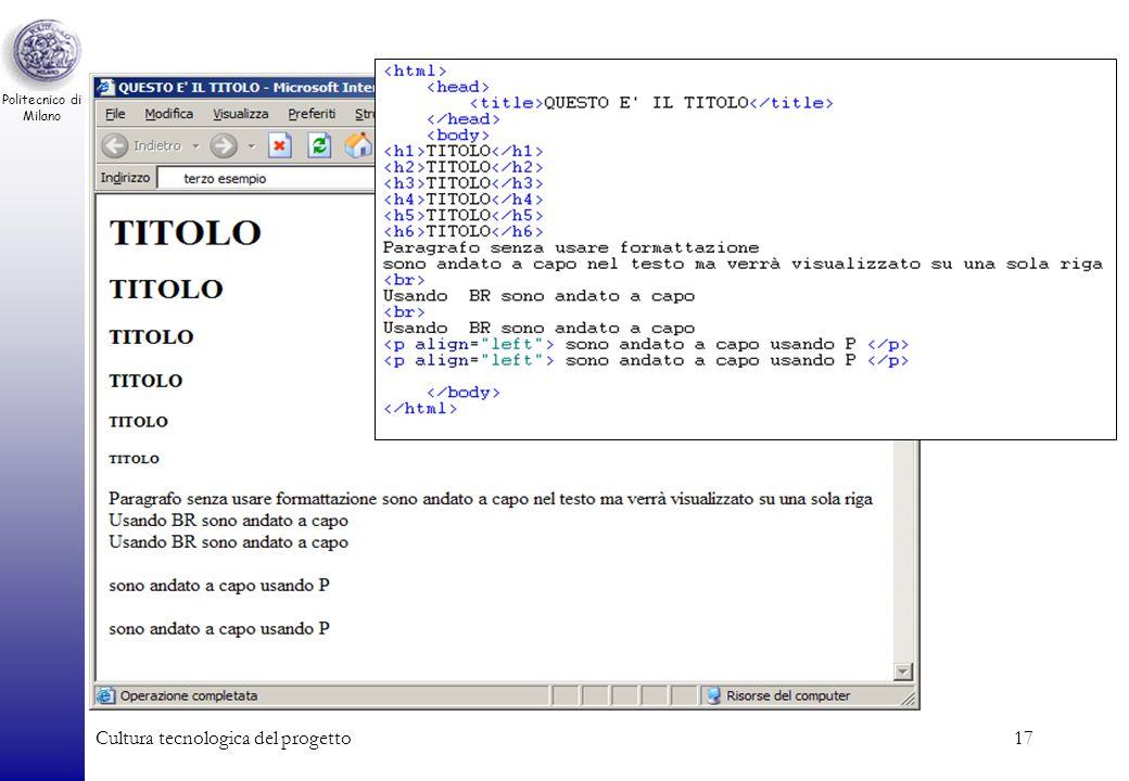 Politecnico di Milano Cultura tecnologica del progetto17