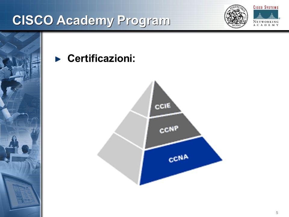 555 CISCO Academy Program Certificazioni: