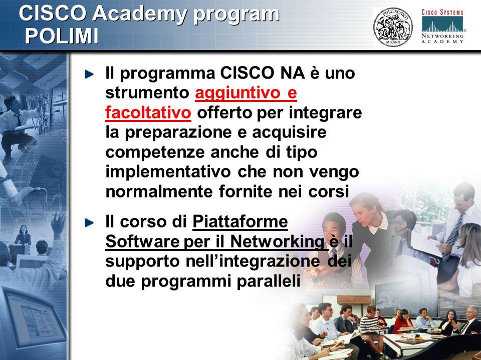 888 Il Programma CCNA Il programma CCNA si articola in 4 moduli/semestri CCNA 1 CCNA 2 CCNA 3 CCNA 4