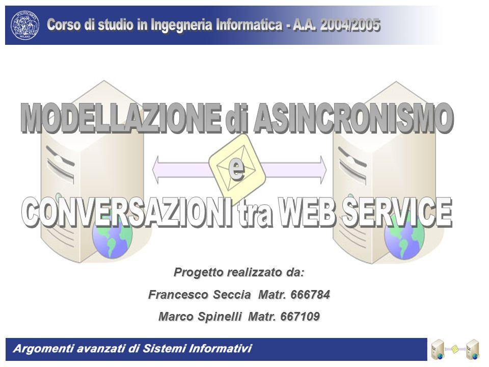 Progetto realizzato da: Francesco Seccia Matr. 666784 Marco Spinelli Matr. 667109