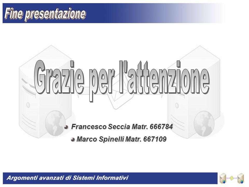 20 Francesco Seccia Matr. 666784 Francesco Seccia Matr.
