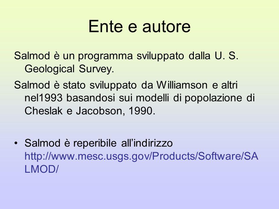 Ente e autore Salmod è un programma sviluppato dalla U.