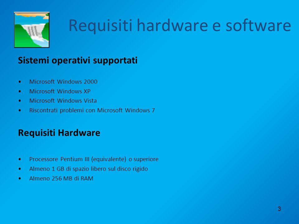 Requisiti hardware e software Sistemi operativi supportati Microsoft Windows 2000 Microsoft Windows XP Microsoft Windows Vista Riscontrati problemi co
