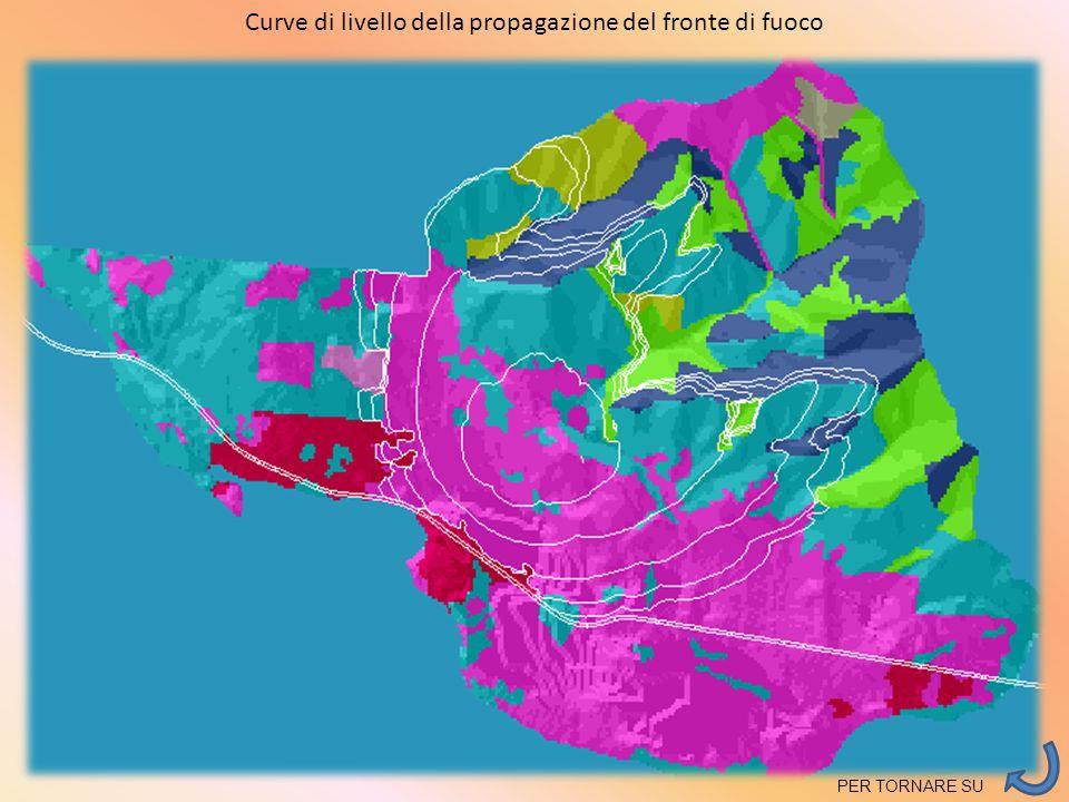 Curve di livello della propagazione del fronte di fuoco PER TORNARE SU