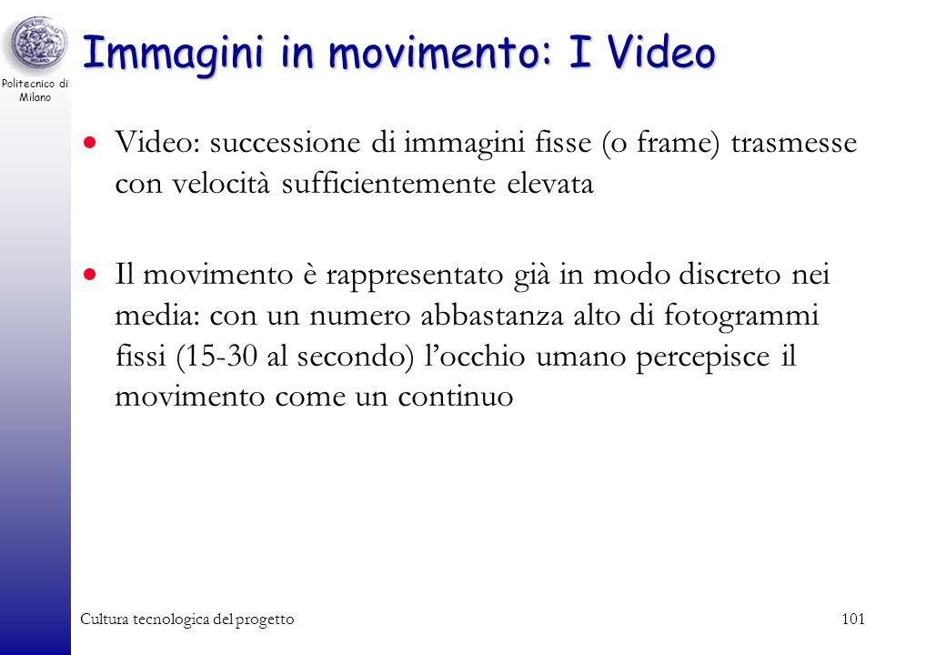Politecnico di Milano Cultura tecnologica del progetto100 Formati vettoriali/bitmap (misti) PostScript (Adobe): misto bitmap-vettoriale, compressione