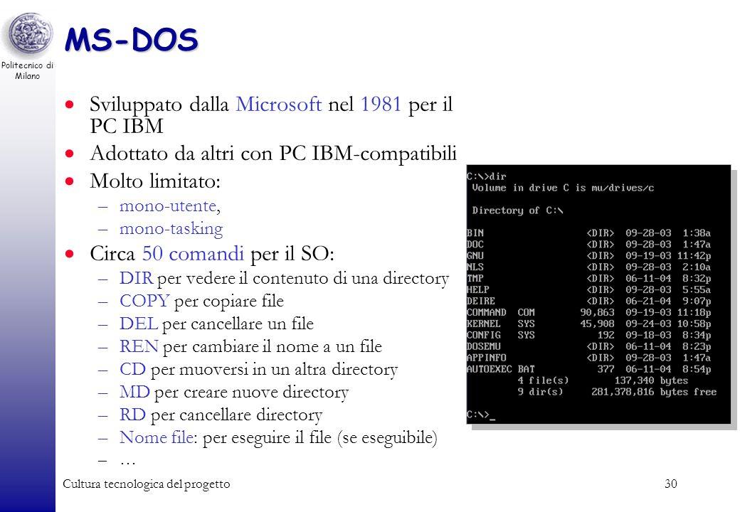 Politecnico di Milano Cultura tecnologica del progetto29 Bootstrap