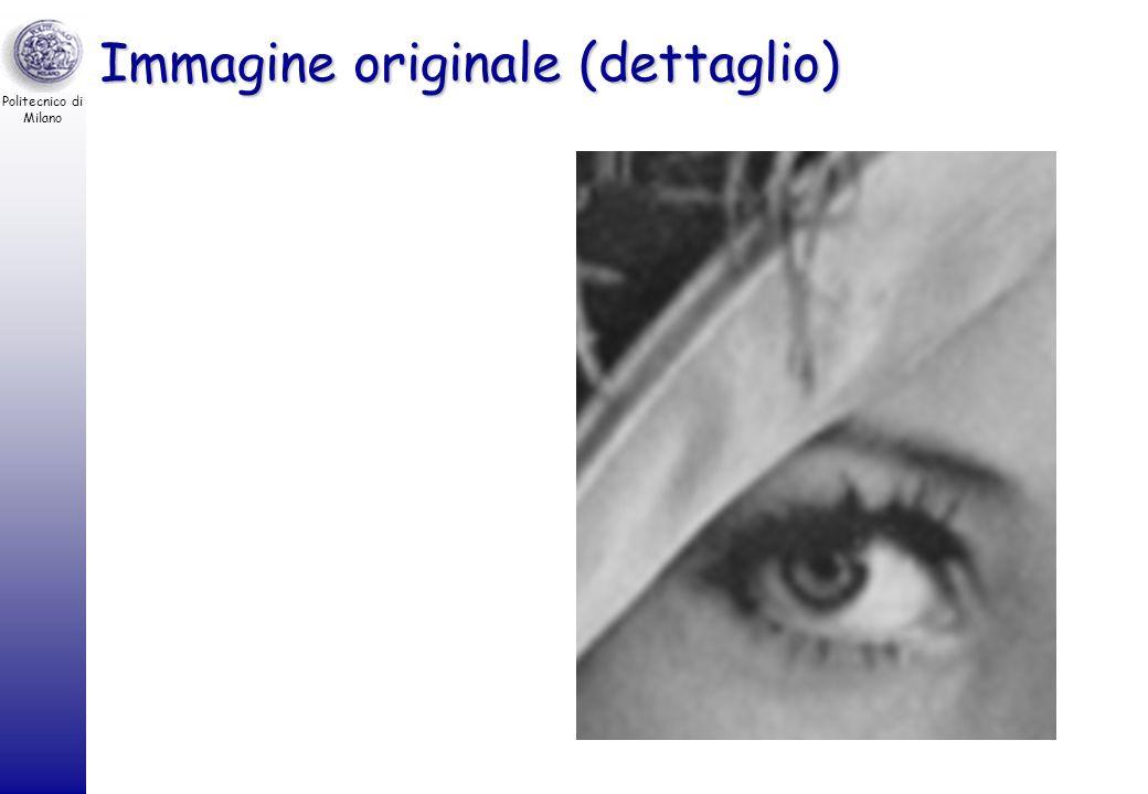 Politecnico di Milano Immagine originale 8 bpp bpp bits / pixel