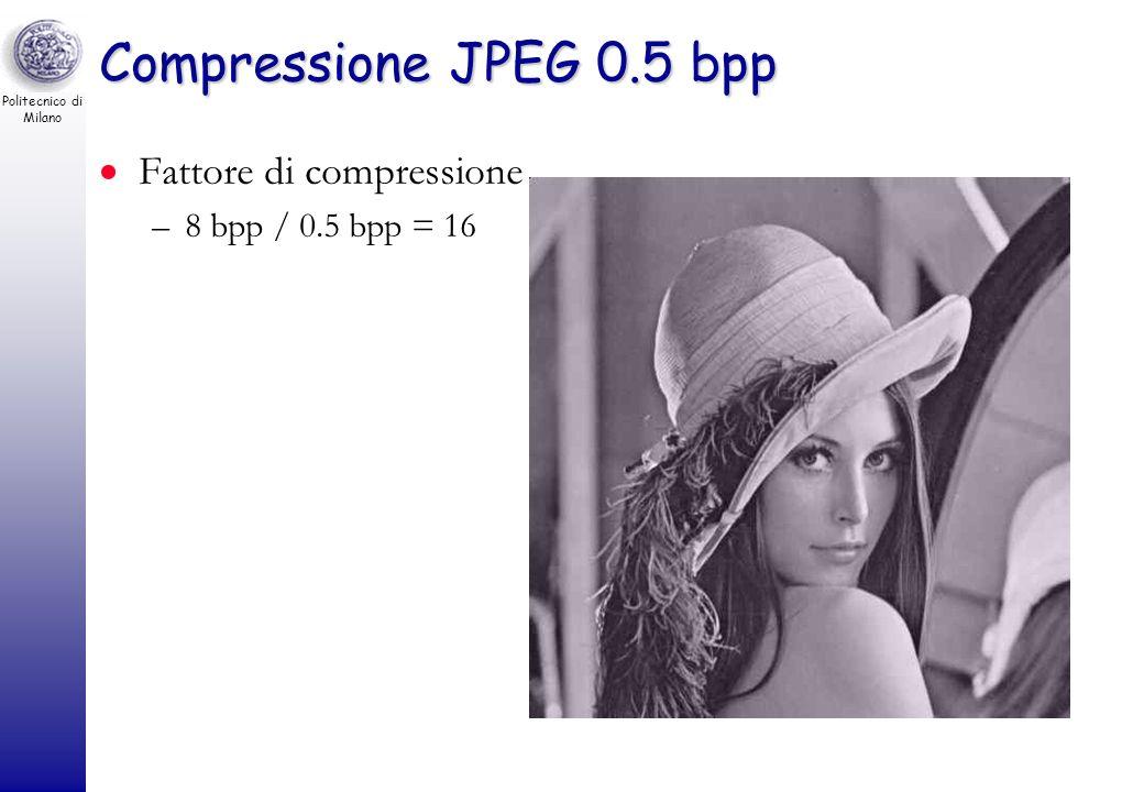 Politecnico di Milano Compressione JPEG 0.35 bpp