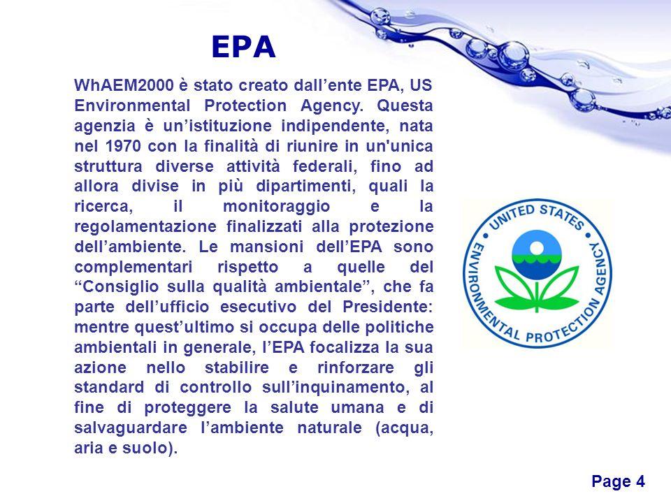 Free Powerpoint Templates Page 4 EPA WhAEM2000 è stato creato dallente EPA, US Environmental Protection Agency. Questa agenzia è unistituzione indipen