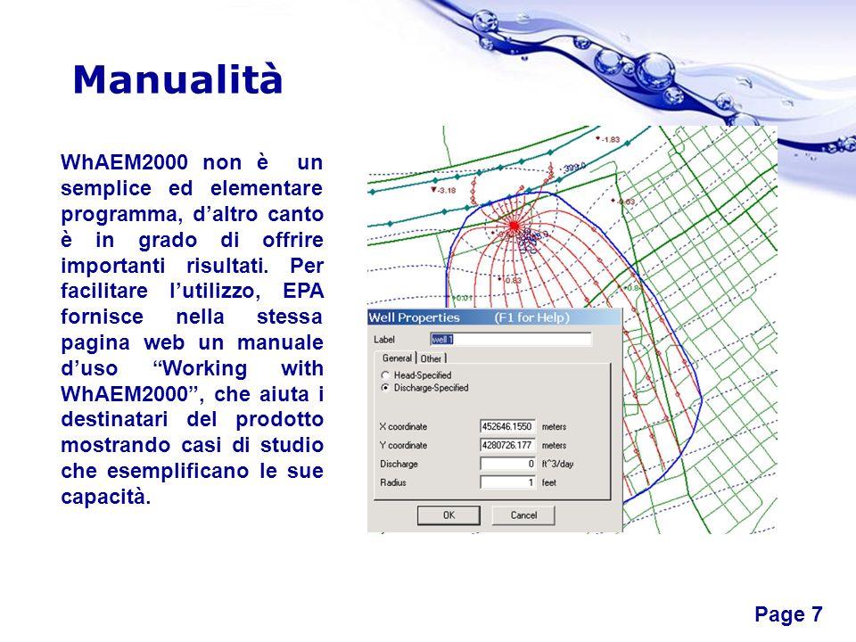 Free Powerpoint Templates Page 8 Esempio Studio della zona di protezione di un pozzo per lacqua potabile