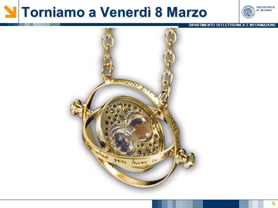 DIPARTIMENTO DI ELETTRONICA E INFORMAZIONE Torniamo a Venerdì 8 Marzo 6