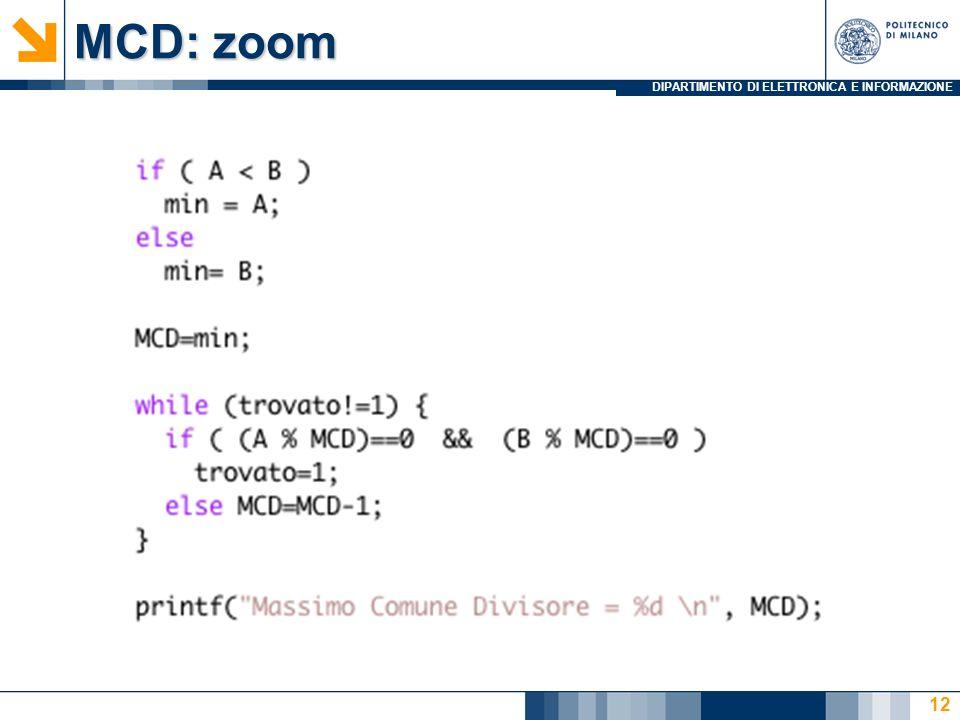 DIPARTIMENTO DI ELETTRONICA E INFORMAZIONE MCD: zoom 12