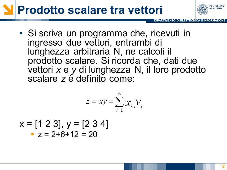 DIPARTIMENTO DI ELETTRONICA E INFORMAZIONE Calcolo punto medio Si definisca una struttura dati in grado di rappresentare un punto in un piano cartesiano.