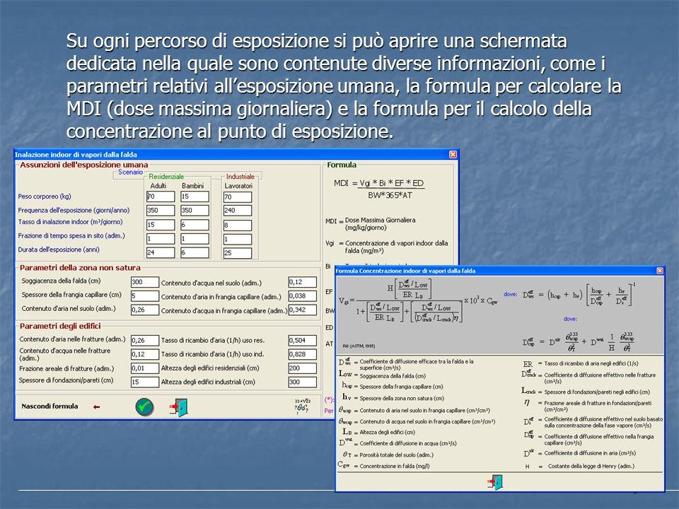 6 Su ogni percorso di esposizione si può aprire una schermata dedicata nella quale sono contenute diverse informazioni, come i parametri relativi alle
