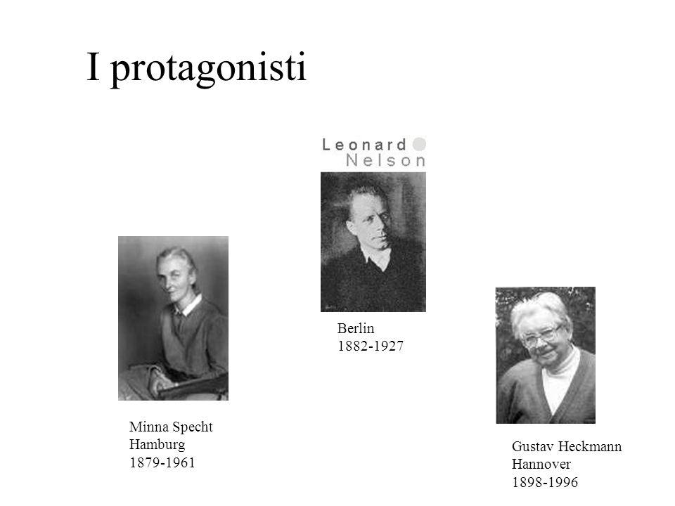 I protagonisti Berlin 1882-1927 Minna Specht Hamburg 1879-1961 Gustav Heckmann Hannover 1898-1996