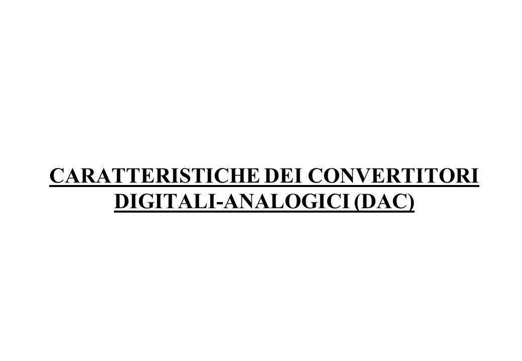 CARATTERISTICHE DEI CONVERTITORI DIGITALI-ANALOGICI (DAC)