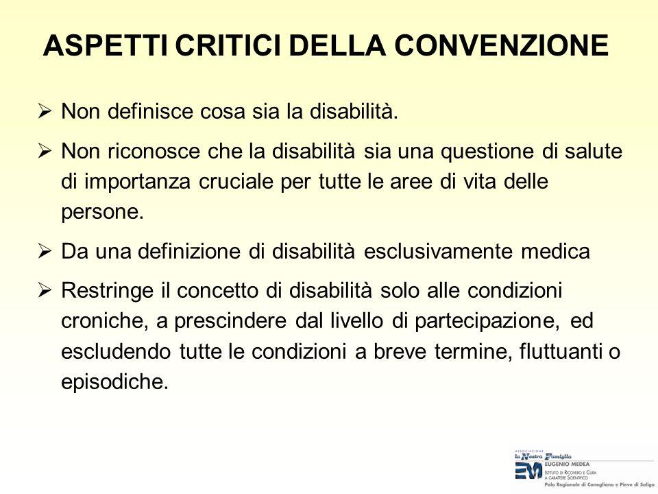 DEFINIZIONE PERSONE CON DISABILITÀ Convenzione sui diritti della persona con disabilità (ONU-New York 13.12.2006) Per persone con disabilità si intend
