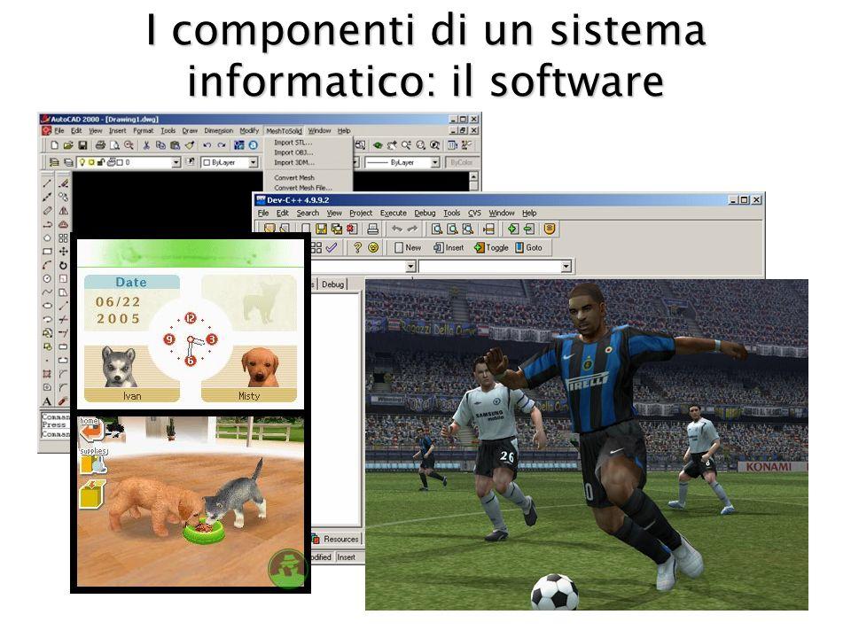 I componenti di un sistema informatico: il software