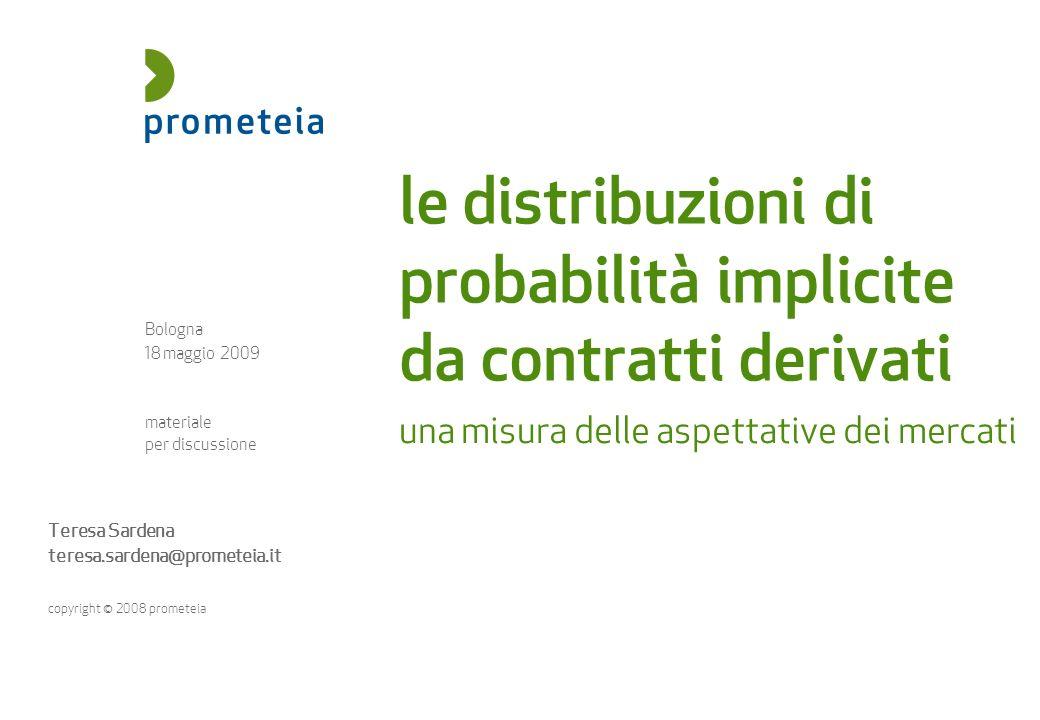 riservato e confidenziale 18 maggio 2009 | le distribuzioni di probabilità implicite da contratti derivati | 22 Ritorno allo spazio cartesiano di origine: trasformazione dei delta interpolati nei corrispondenti strike.