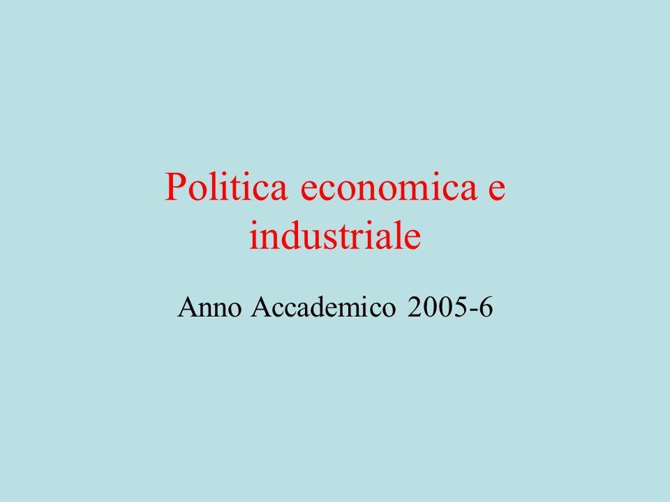 Equilibri Concentrati e Dispersi (1)La politica anticipa le forze economiche.