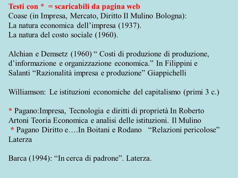 In inglese (facoltativi) Pagano U.Trento (2003) S.