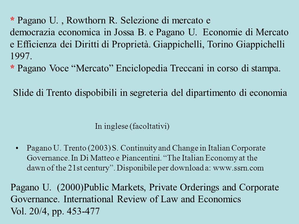 Due architetture della teoria economica Consumatori Imprese Mercati Individui Mercati Imprese