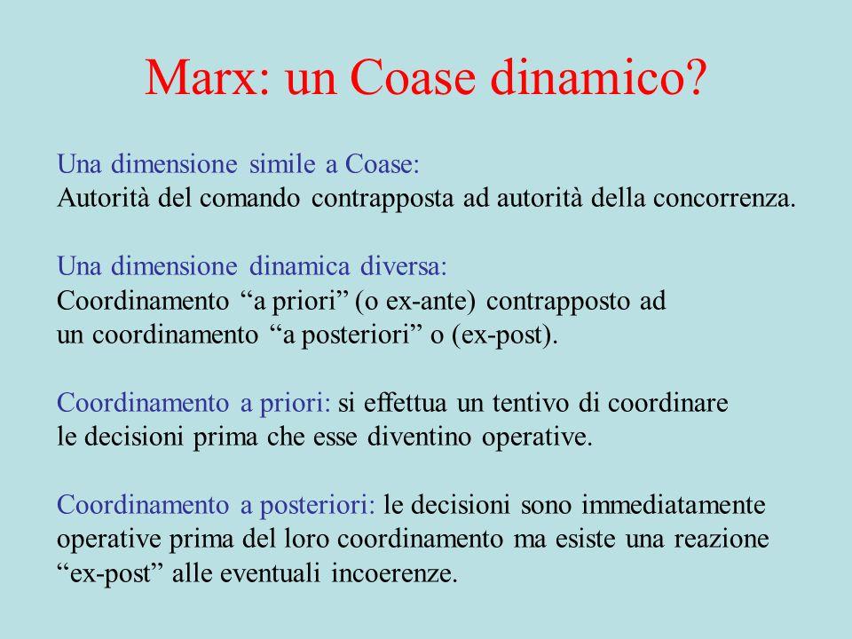 Marx: un Coase dinamico.