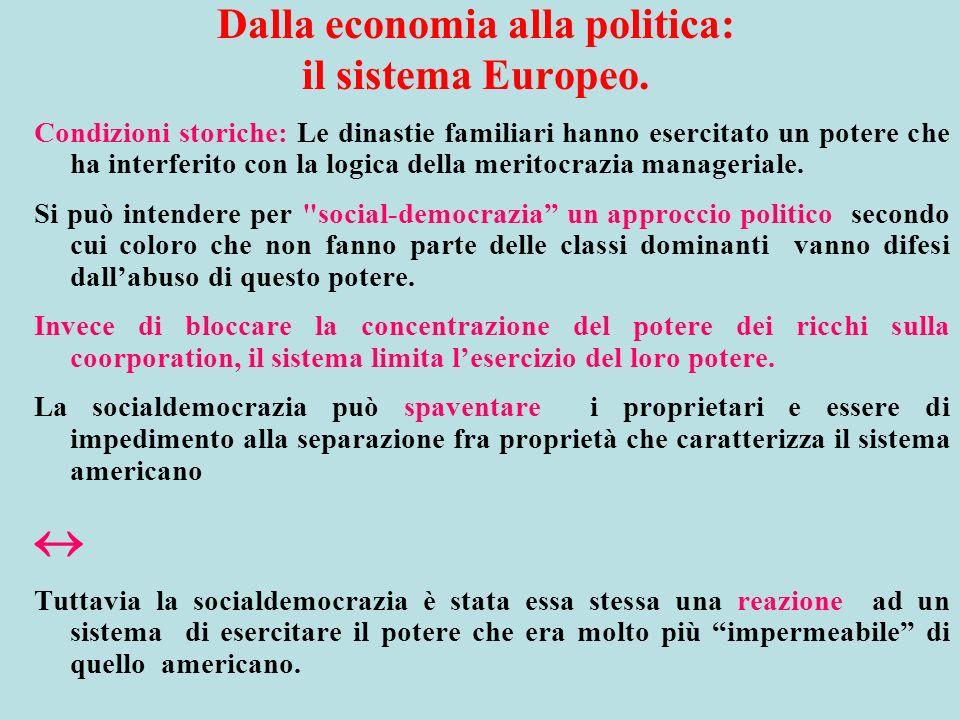 Dalla economia alla politica: il sistema Europeo.