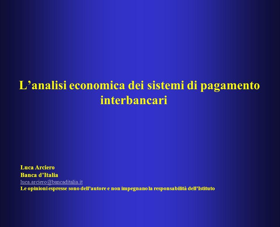 AbM & sistemi di pagamento Galbiati and Soramaki, non diversamente da Angelini (1998) analizzano le strategie di finanziamento infragiornaliero delle banche che devono scegliere se stanziare liquidità allinizio della giornata o ricorrere ai pagamenti in entrata Figura 1: Equilibrio cooperativo (linea tratteggiata) versus equilibrio di Nash