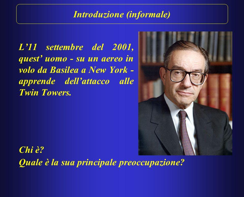 Introduzione (informale) L11 settembre del 2001, quest uomo - su un aereo in volo da Basilea a New York - apprende dellattacco alle Twin Towers.