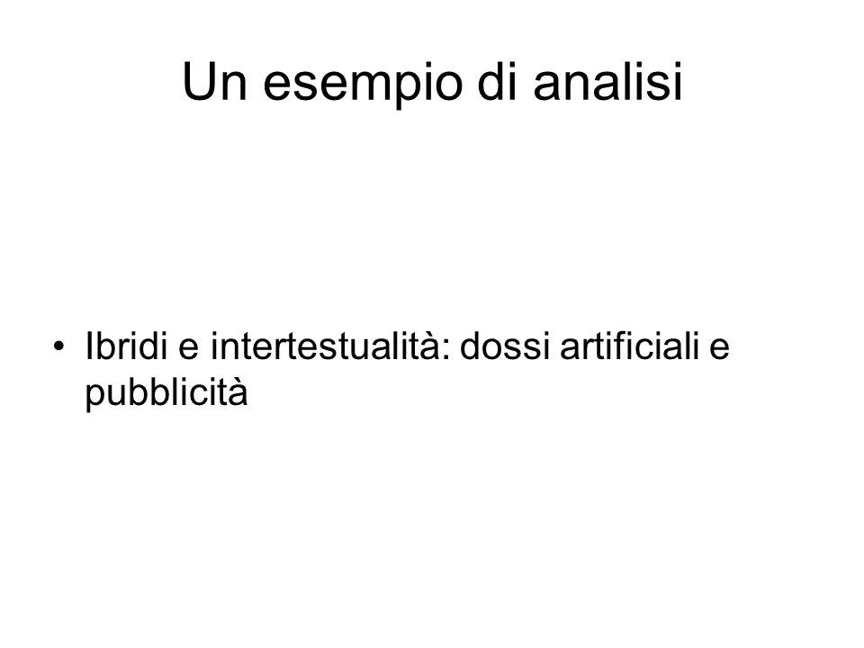 Un esempio di analisi Ibridi e intertestualità: dossi artificiali e pubblicità