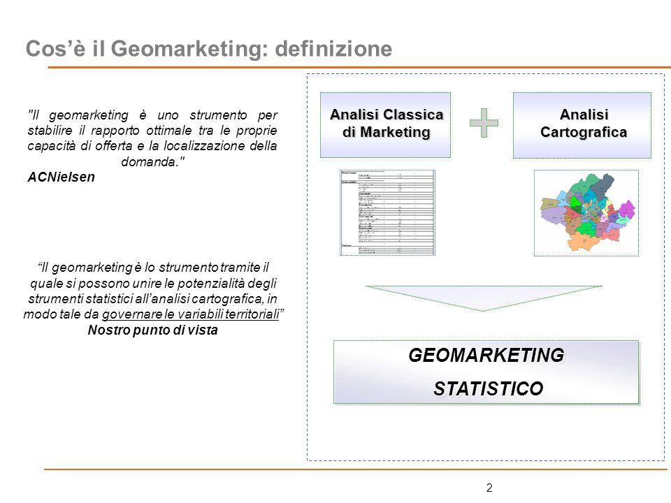 43 ESERCITAZIONE: UNA APPLICAZIONE DI GEOMARKETING STATISTICO /1 La nostra azienda è costituita da una rete di 28 supermercati situati nelle province di Firenze, Pistoia e Siena.