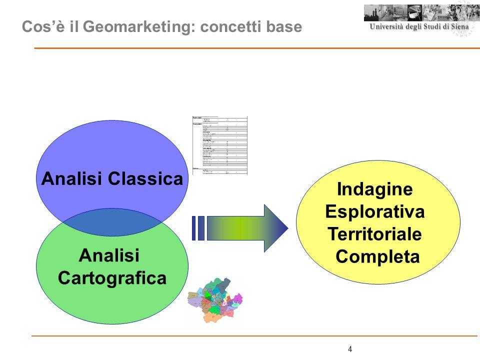 15 Il Bacino, i Bacini costruiti ad hoc: Lanalisi del cliente (curva di Lorenz): Step 1: la georeferenziazione della clientela