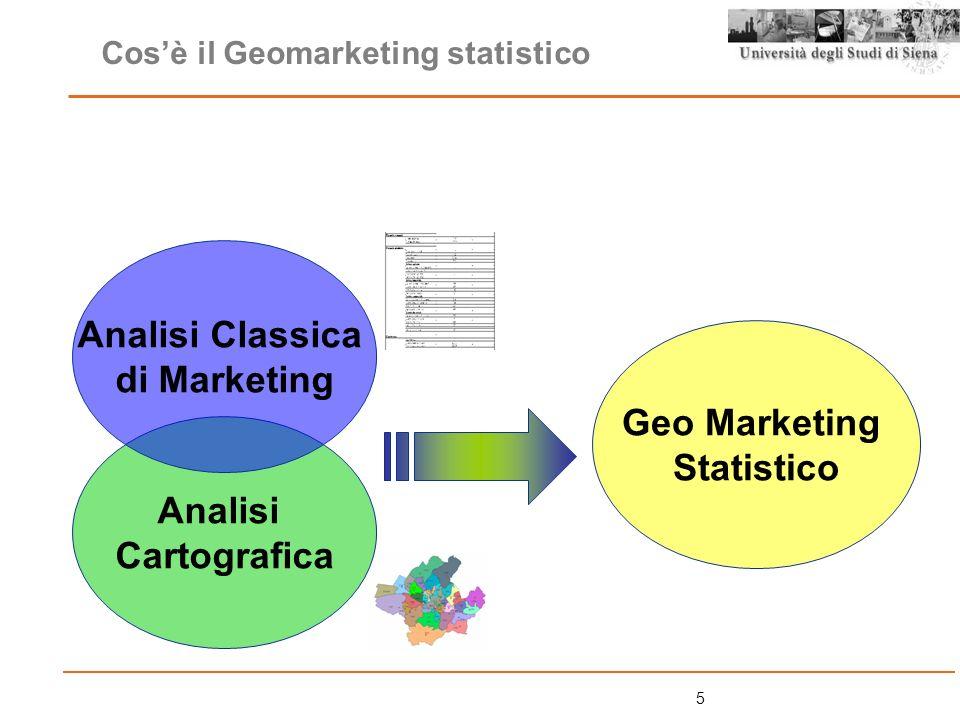 16 Il Bacino, i Bacini costruiti ad hoc: Lanalisi del cliente (curva di Lorenz): Step 1:la georeferenziazione della clientela