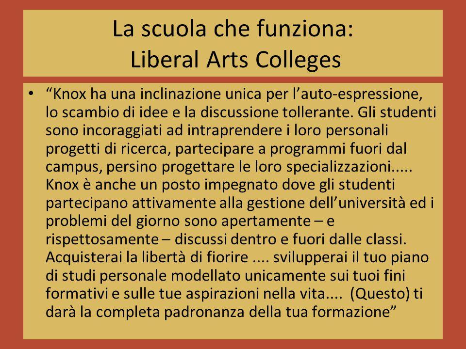 La scuola che funziona: Liberal Arts Colleges Knox ha una inclinazione unica per lauto-espressione, lo scambio di idee e la discussione tollerante.