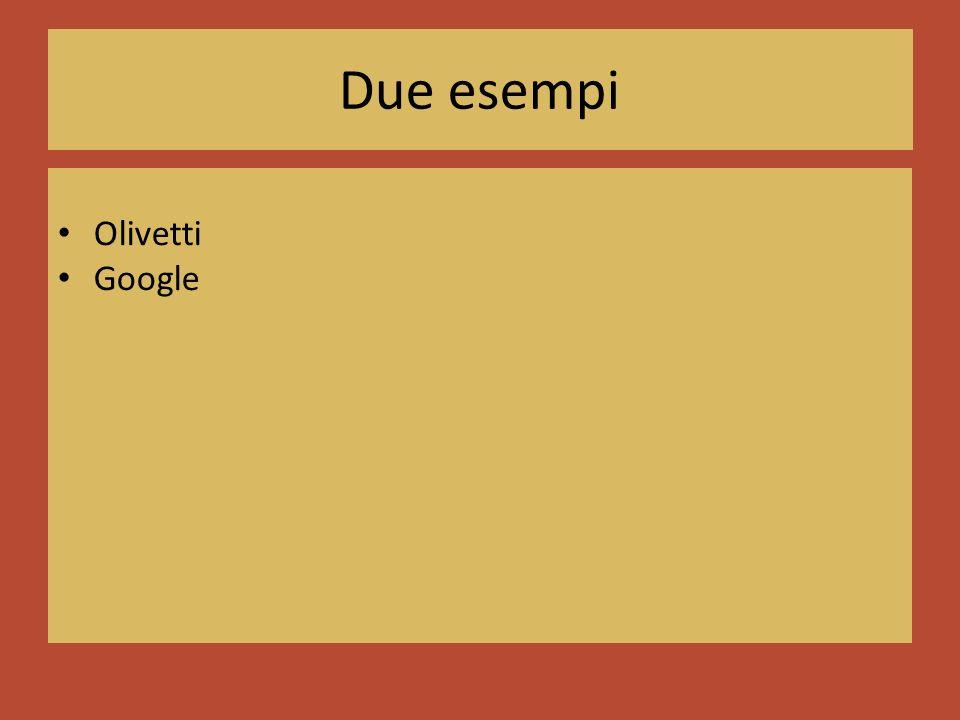 Due esempi Olivetti Google