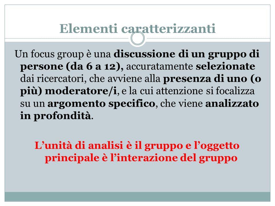 Da scegliere: 1-discussione in gruppo: dimensioni del gruppo.