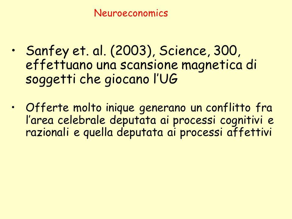 Neuroeconomics Sanfey et.al.
