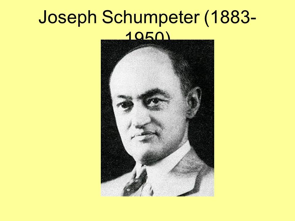 Joseph Schumpeter (1883- 1950)