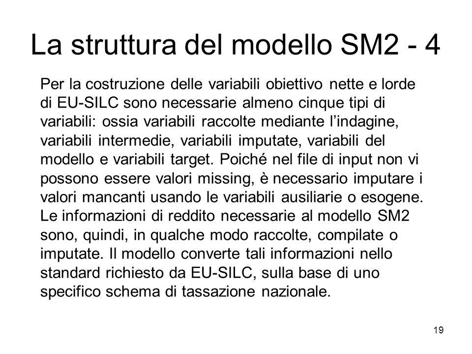 19 Per la costruzione delle variabili obiettivo nette e lorde di EU-SILC sono necessarie almeno cinque tipi di variabili: ossia variabili raccolte med