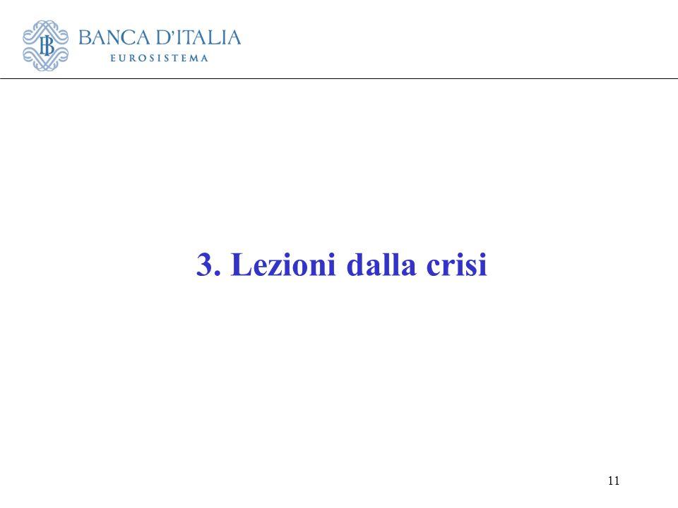 11 3. Lezioni dalla crisi