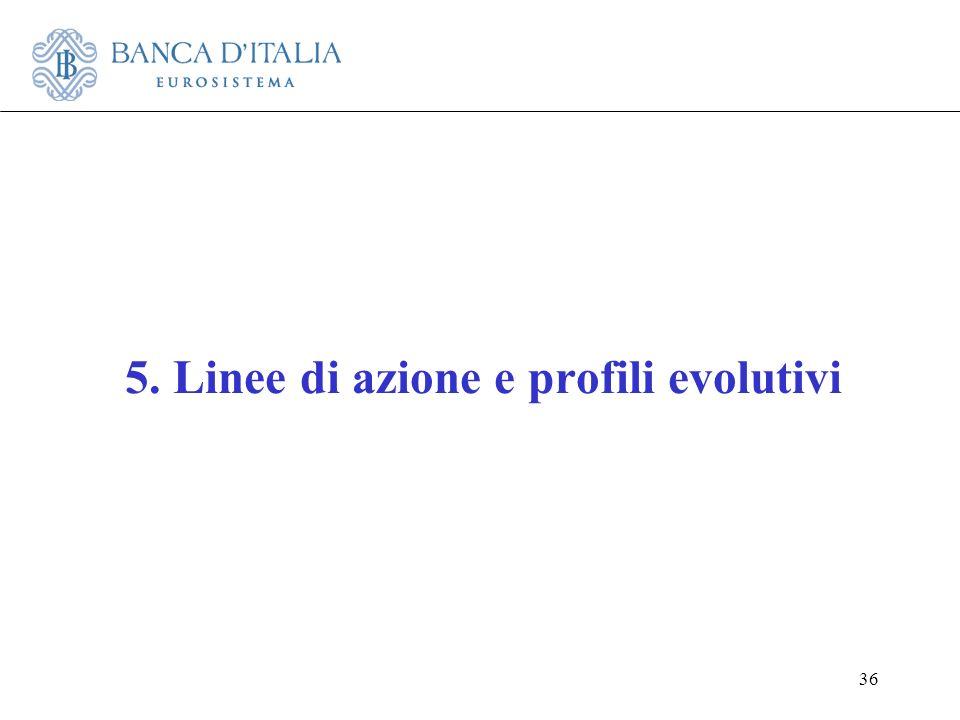 36 5. Linee di azione e profili evolutivi