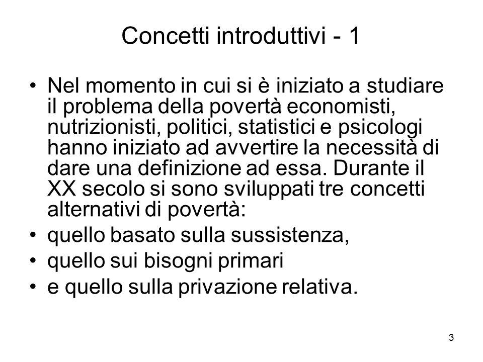 14 Definizioni ufficiali -2 Eurostat utilizza una definizione basata sulla mediana: P.L.
